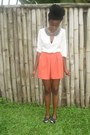 Orange-culottes-h-m-shorts-black-tasseled-river-island-loafers