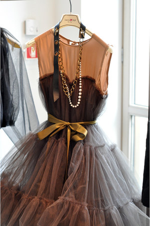 necklace - necklace - belt - dress