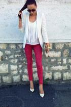 H&M blouse - Zara jeans - pull&bear blazer - New Yorker sunglasses