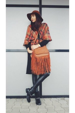Stradivarius hat - New Yorker leggings - Zara scarf - H&M cardigan