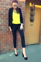 new look blazer - Local store bag - c&a pants - new look heels
