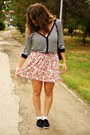 White-random-brand-shirt-black-atmosphere-cardigan-bubble-gum-lefties-skirt