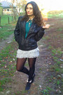 Black-miss-alina-boots-silver-bershka-dress-black-random-brand-jacket