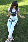 Aquamarine-ebay-bag-white-thrifted-sandals-white-meow-romwe-t-shirt