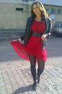 Black-miss-alina-boots-ruby-red-stradivarius-dress-black-random-brand-jacket