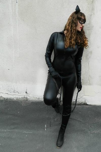 black milanoo bodysuit - black cat ears handmade hair accessory