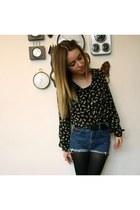 Zara blouse - vintage shorts
