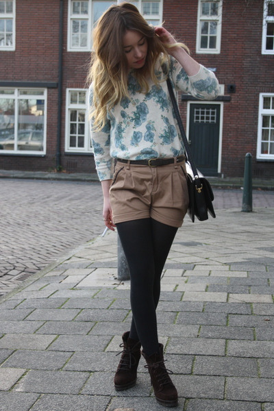 Zara sweater - vintage bag - Zara shorts - Zara heels
