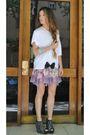 White-h-m-t-shirt-black-zara-shoes-stradivarius-dress-silver-ray-bany-glas