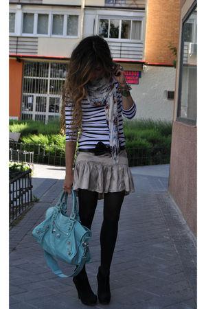 blue balenciaga bag - black Pura Lopez shoes - gold Bel Air dress