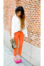 Asos-shoes-accesorize-purse-orange-zara-pants-queens-wardrobe-blouse-leo