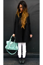 lita Jeffrey Campbell shoes - white Zara jeans - balenciaga bag - Zara cape