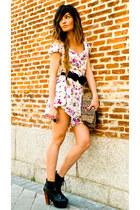 flowered Primark romper - lita Jeffrey Campbell shoes - Accesorize purse