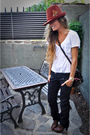 Brown-zara-hat-black-replay-jeans-brown-zara-clogs-brown-louis-vuitton-pur