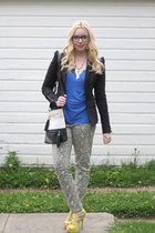 snakeskin UrbanOG pants - 2020AVE blazer - colorblock Maurices bag