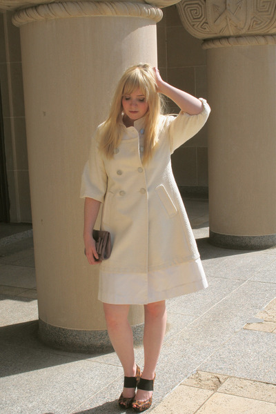 cream BCBG coat