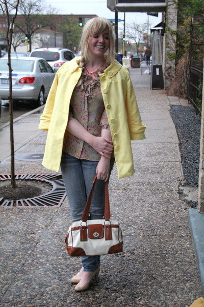 floral Nick &amp; Me top - yellow Worthington coat