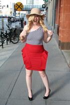 H&M hat - lulus skirt - Steve Madden heels - vintage top