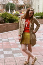 houndstooth The Limited skirt - red Ralph Lauren sweater