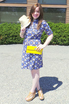 geometric Charter Club dress - clutch NA bag