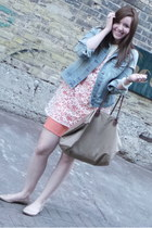 denim Old Navy jacket - lace Sugarlips dress - Target flats