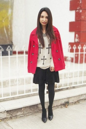 Blitzer coat - Martofchina shoes - Udobuy sweater - chicnova necklace