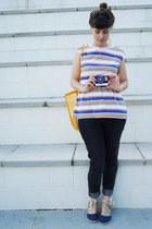 warehouse jeans - vintage shirt - espadrille Primark wedges