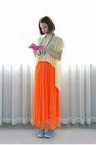carrot orange cotton H&M skirt
