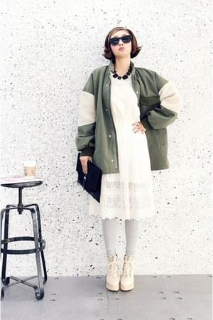 chartreuse cotton chip monday coat