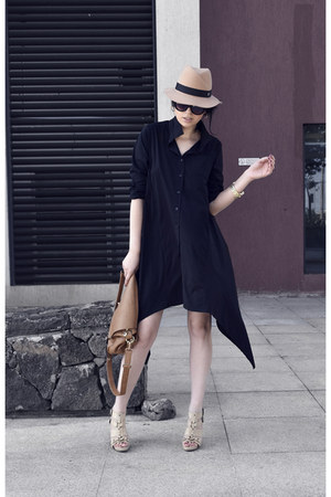 shirtdress StyleMoi dress - beige OASAP hat