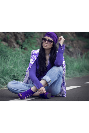 one color look purple accessories