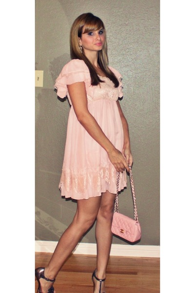 Light Pink Lace Rulehim Dress Chanel Bag