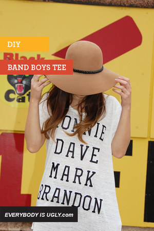 diy boy band t-shirt