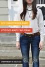 Christopher Kane jeans - Runway DIY jeans