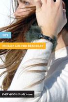 DIY Phillip Lim Inspired Fur Band Bracelet