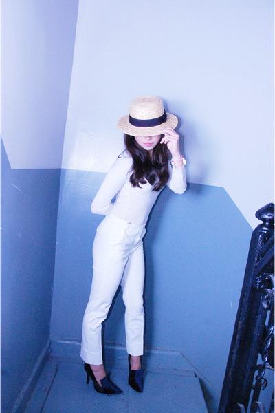 diy shoes Runway DIY heels - H&M hat - Michael Stars top