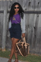 palermo Louis Vuitton bag - body chain LF stores bag - purple LF stores t-shirt