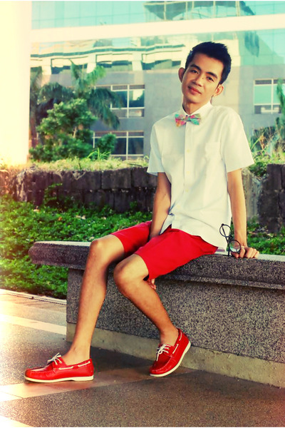 Polyester Bow Tie tie - Boat Shoes shoes