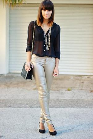 black Limited shirt - camel 1st Kiss jeans