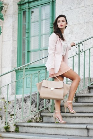 neutral Forever 21 heels - light pink hm blazer