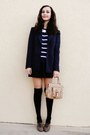 Navy-forever-21-blazer-black-forever-21-socks-black-vintage-skirt