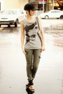 Heather-gray-bag-black-heels-dark-khaki-pants-heather-gray-top