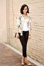 White-top-black-jeans-ivory-shirt-gold-accessories