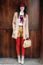 vintage shorts - Target hat - H&M blazer - Forever 21 belt