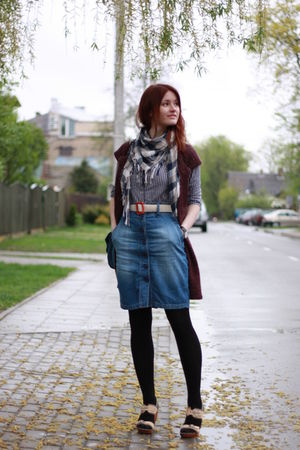 blue trifted and refashioned by me httpdaiktuistorijosblogspotcom skirt - lindex