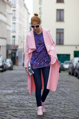 shein coat - Poppy Lovers bag - MrGugu & Miss Go sweatshirt