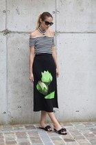GAMISS skirt - Poppy Lovers top - Jeffrey Campbell flats