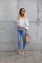 Poppy Lovers blouse - zaful sandals