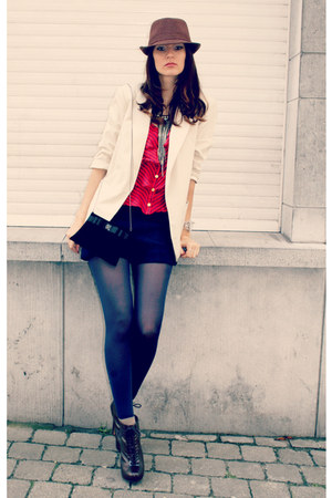 new look blazer - H&M tights