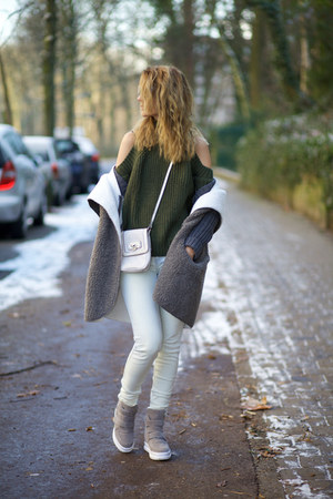shein coat - romwe sweater - Yoyomelody wedges